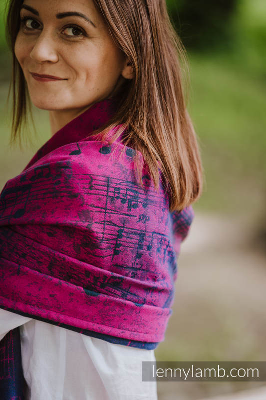 Shawl made of wrap fabric (43% cotton, 57% Merino wool) - SYMPHONY DESIRE #babywearing