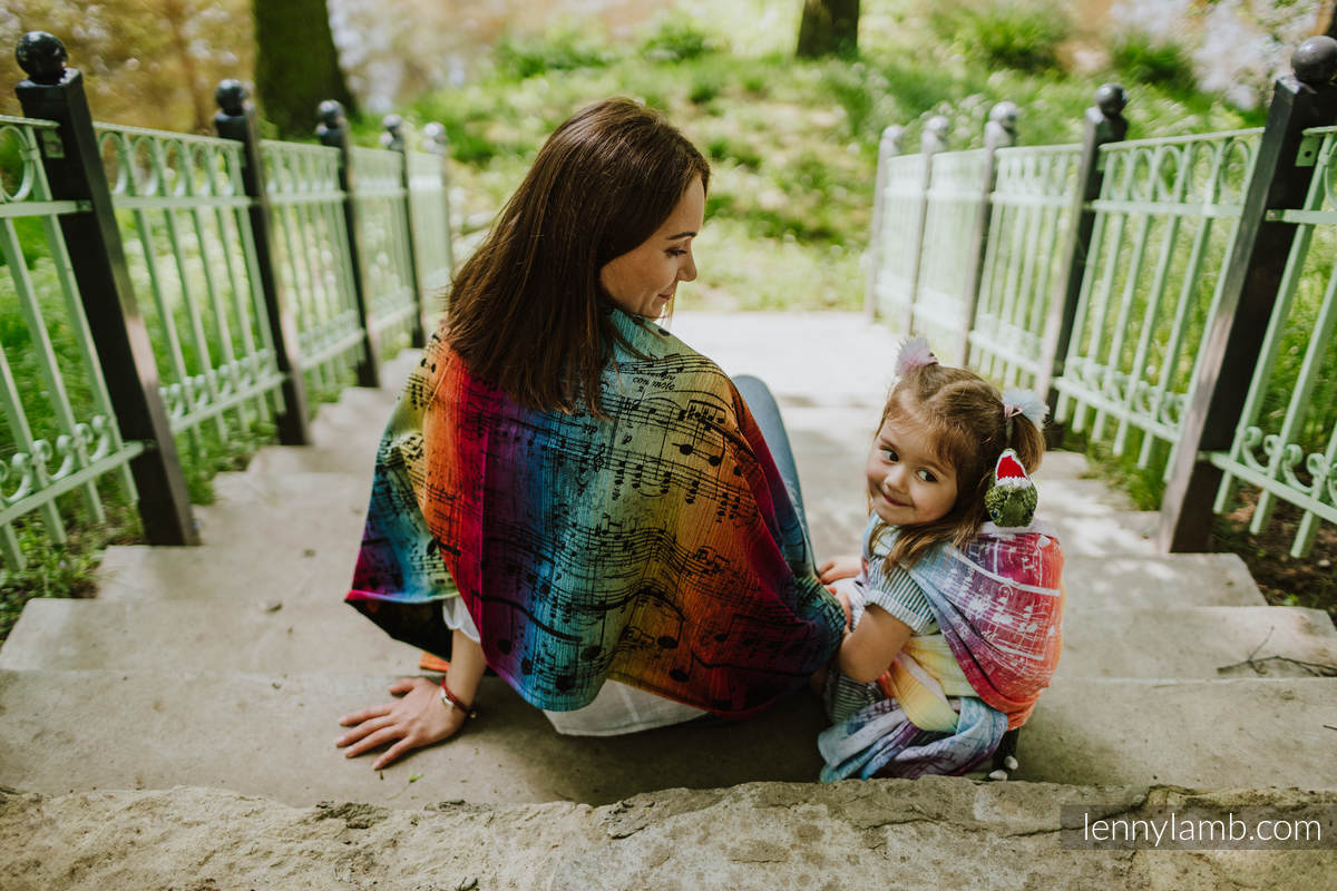 Shawl made of wrap fabric (100% cotton) - SYMPHONY RAINBOW DARK #babywearing