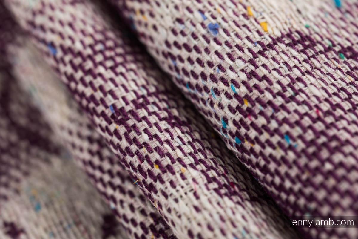 Baby Wrap, Jacquard Weave (78% cotton 22% silk) - GALLOP - RACE - size M #babywearing