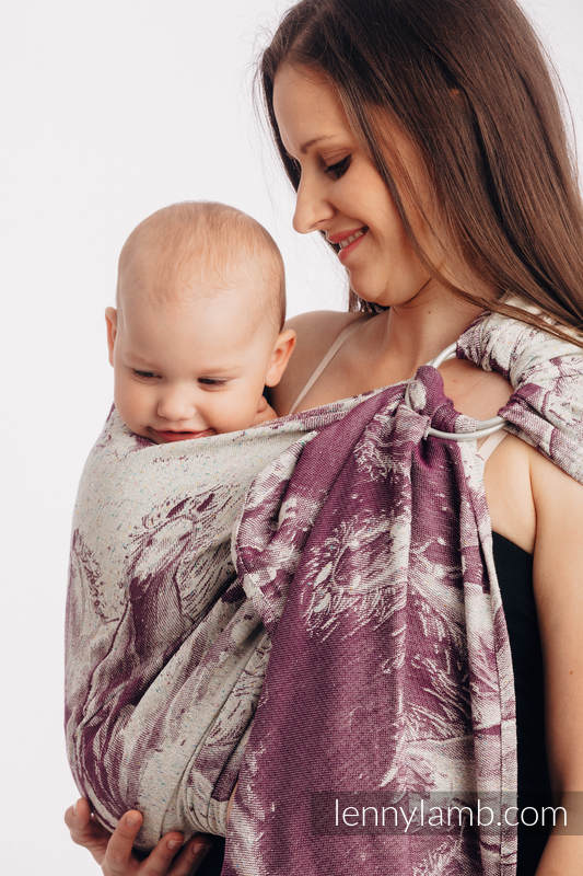 Ringsling, Jacquard Weave, with gathered shoulder (78% cotton 22% silk) -  GALLOP - RACE - long 2.1m #babywearing