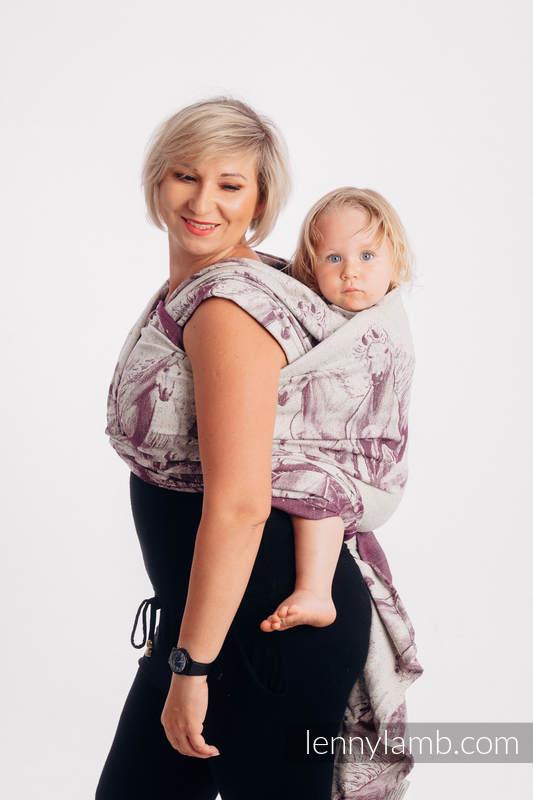 Baby Wrap, Jacquard Weave (78% cotton 22% silk) - GALLOP - RACE - size XS #babywearing