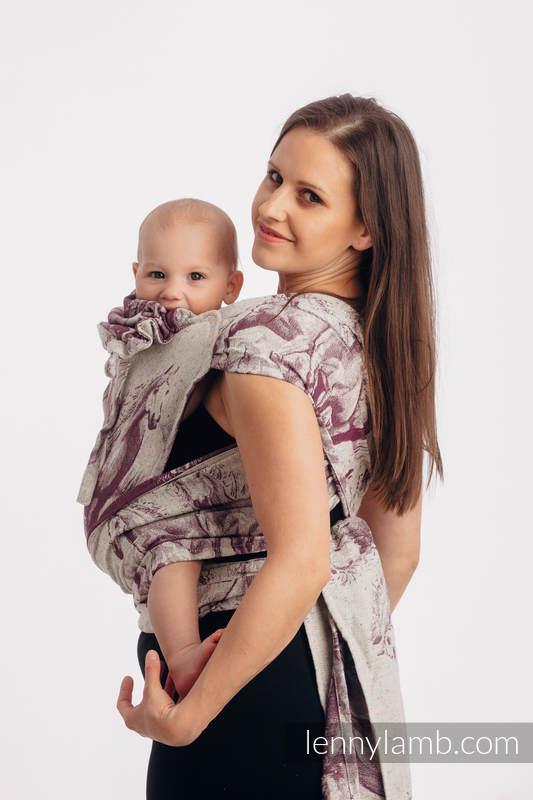 WRAP-TAI carrier Mini with hood/ jacquard twill / 78% cotton 22% silk - GALLOP - RACE #babywearing