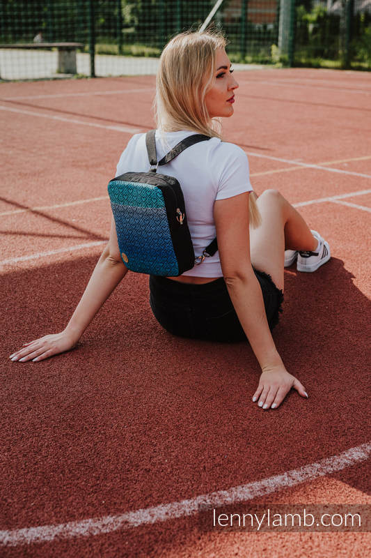 Backpack/Crossbody Bag 2in1  SPORTY, (56% cotton, 44% viscose) - BIG LOVE ATMOSPHERE #babywearing