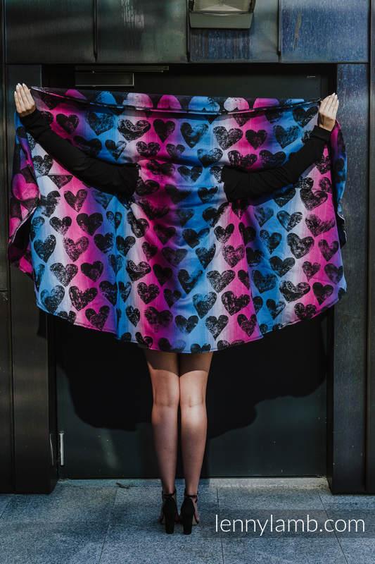 Langer Cardigan - Größe L/XL - LOVKA PINKY VIOLET #babywearing