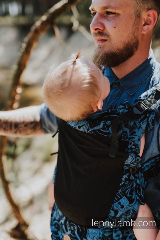 LennyUpGrade Mesh-Tragehilfe, Größe Standard, Jacquardwebung, 75% Baumwolle, 25% Poliester - CLOCKWORK PERPETUUM #babywearing