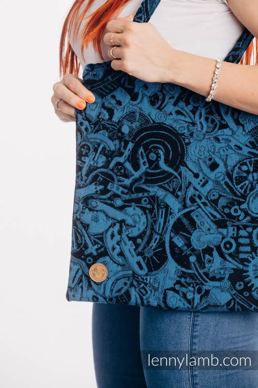 Shopping bag made of wrap fabric (100% cotton) - CLOCKWORK PERPETUUM #babywearing