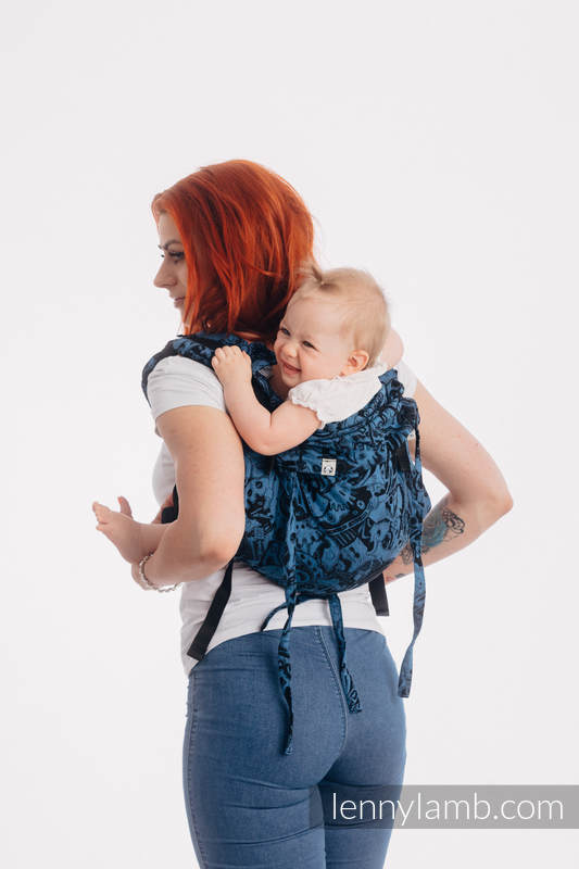 Lenny Buckle Onbuhimo baby carrier, standard size, jacquard weave (100% cotton) - CLOCKWORK PERPETUUM #babywearing