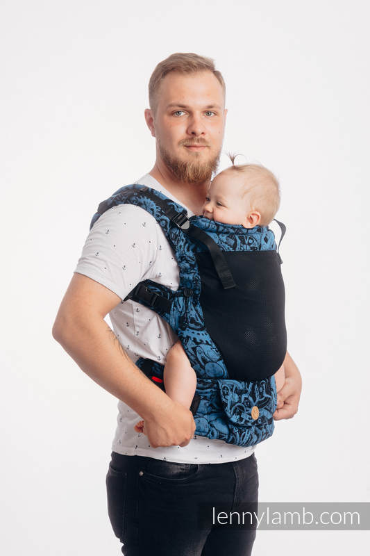 LennyUpGrade Mesh Carrier, Standard Size, jacquard weave (75% cotton, 25% polyester) - CLOCKWORK PERPETUUM #babywearing