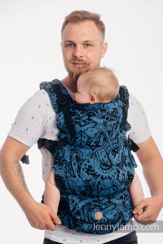 LennyUpGrade Carrier, Standard Size, jacquard weave 100% cotton - CLOCKWORK PERPETUUM #babywearing