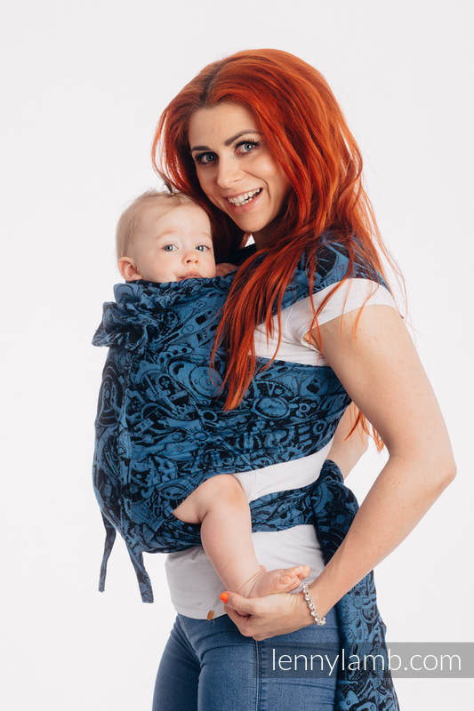 WRAP-TAI carrier Mini with hood/ jacquard twill / 100% cotton / CLOCKWORK PERPETUUM #babywearing