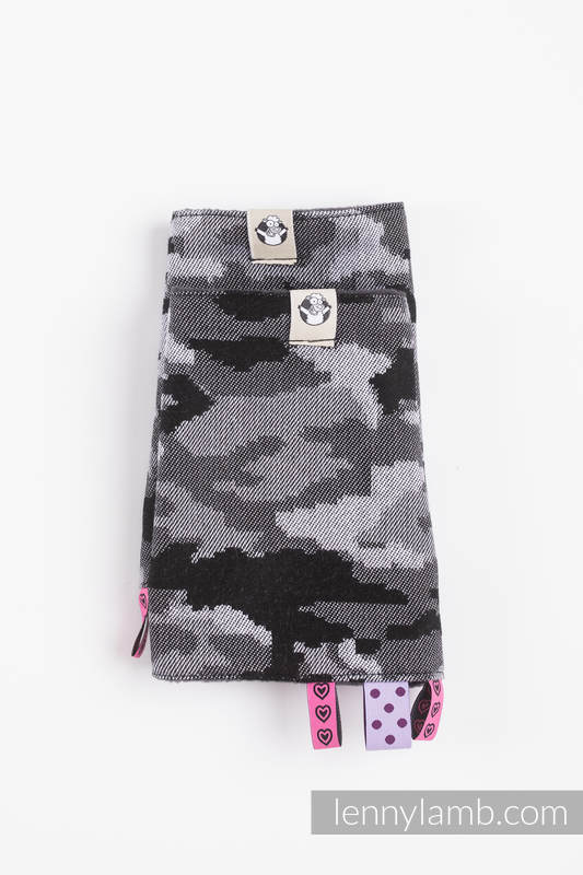 Drool Pads & Reach Straps Set, (60% cotton, 40% polyester) - GREY CAMO #babywearing