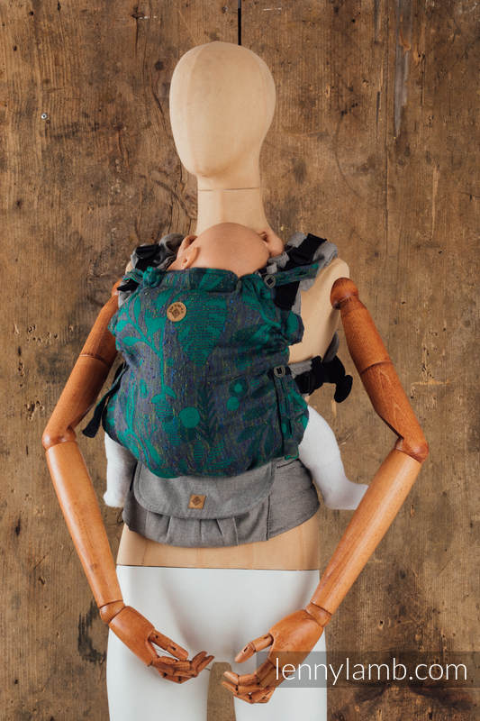 LennyUpGrade Carrier - CHOICE - EXPERIMENT 20 - Standard Size, jacquard weave, (38% merino wool, 34% tussah silk, 28% combed cotton) #babywearing