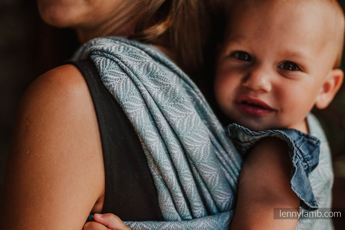 Écharpe, jacquard (75% coton, 25% lin) - YUCCA - SWING - taille L #babywearing