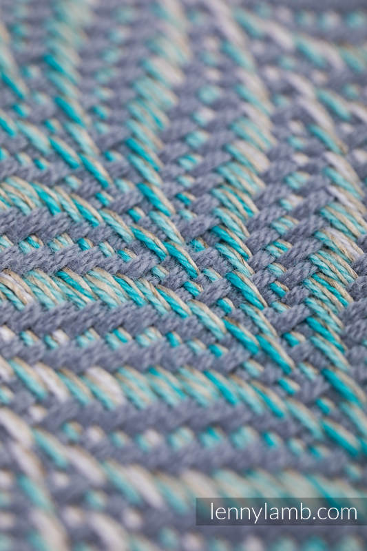 Écharpe, jacquard (75% coton, 25% lin) - YUCCA - SWING - taille XS #babywearing