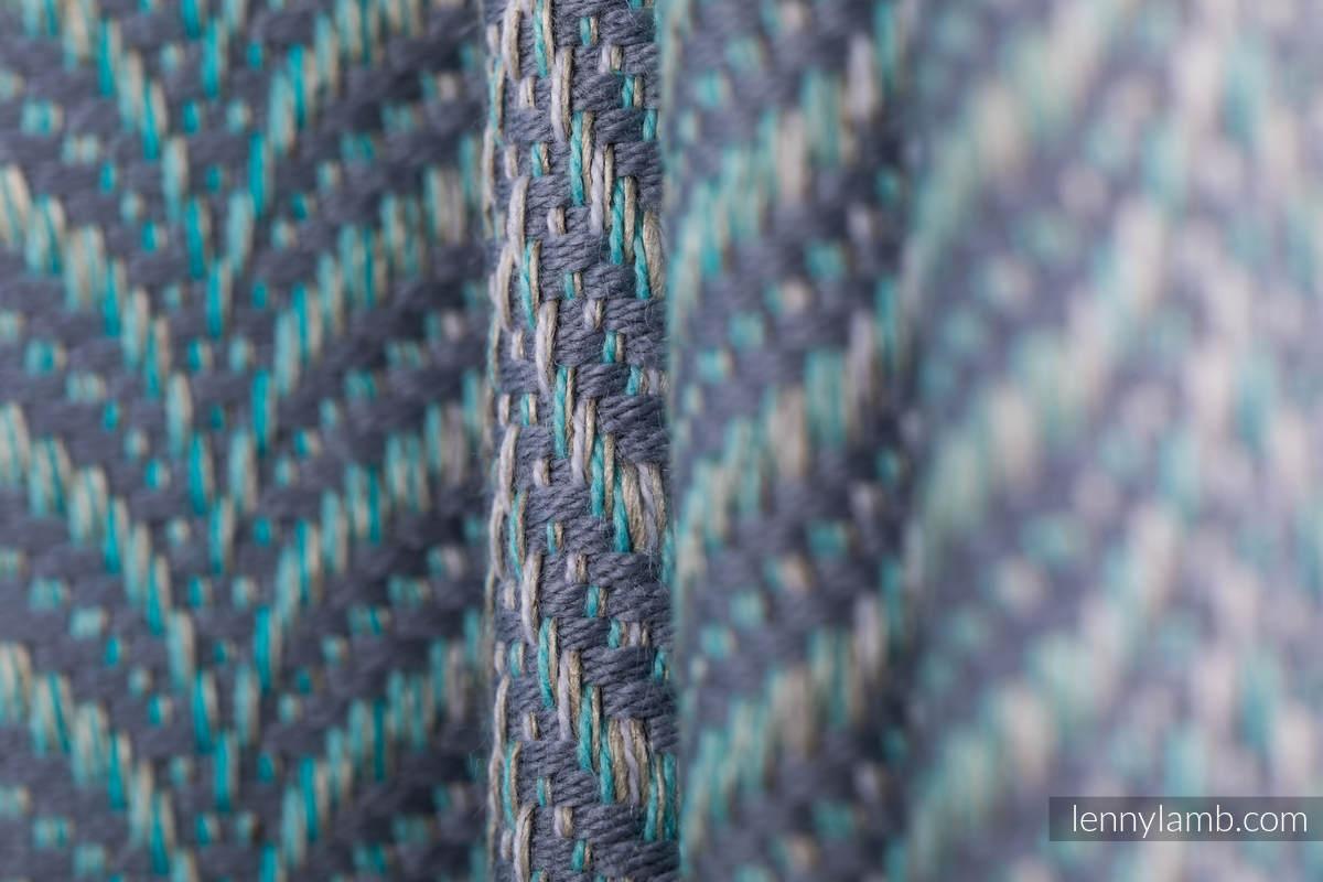 Baby Wrap, Jacquard Weave (75% cotton, 25% linen) - YUCCA - SWING - size XL #babywearing