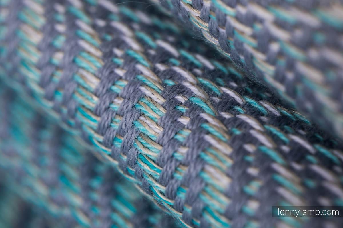 Baby Wrap, Jacquard Weave (75% cotton, 25% linen) - YUCCA - SWING - size M #babywearing