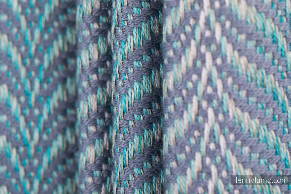 Baby Wrap, Jacquard Weave (75% cotton, 25% linen) - YUCCA - SWING - size XS #babywearing