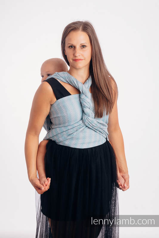Écharpe, jacquard (75% coton, 25% lin) - YUCCA - SWING - taille S #babywearing