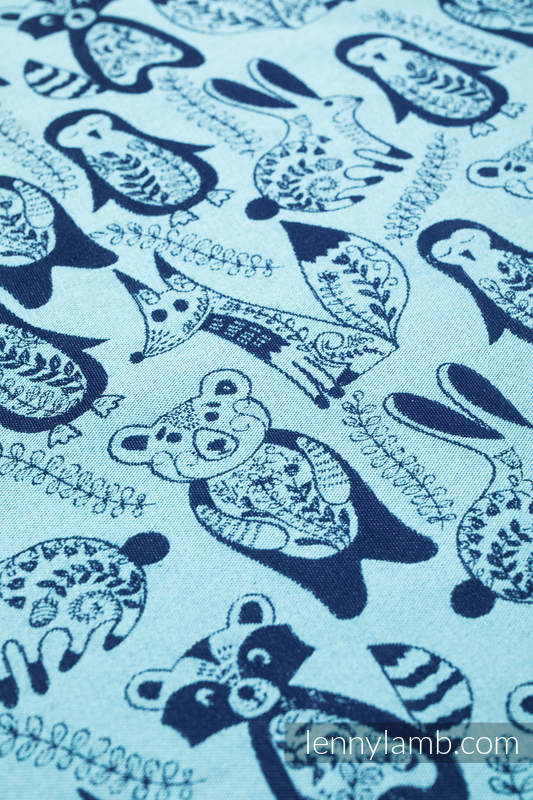 Tragetuch, Jacquardwebung (100% Baumwolle) - PLAYGROUND - BLUE - Größe L #babywearing
