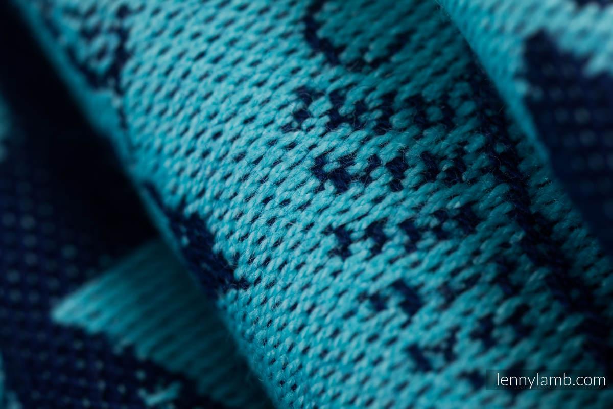 Żakardowa chusta do noszenia dzieci, 100% bawełna - PLAC ZABAW - NIEBIESKI - rozmiar M (drugi gatunek) #babywearing