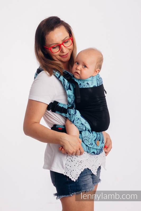 LennyUpGrade Mesh-Tragehilfe, Größe Standard, Jacquardwebung, 75% Baumwolle, 25% Poliester - PLAYGROUND - BLUE #babywearing