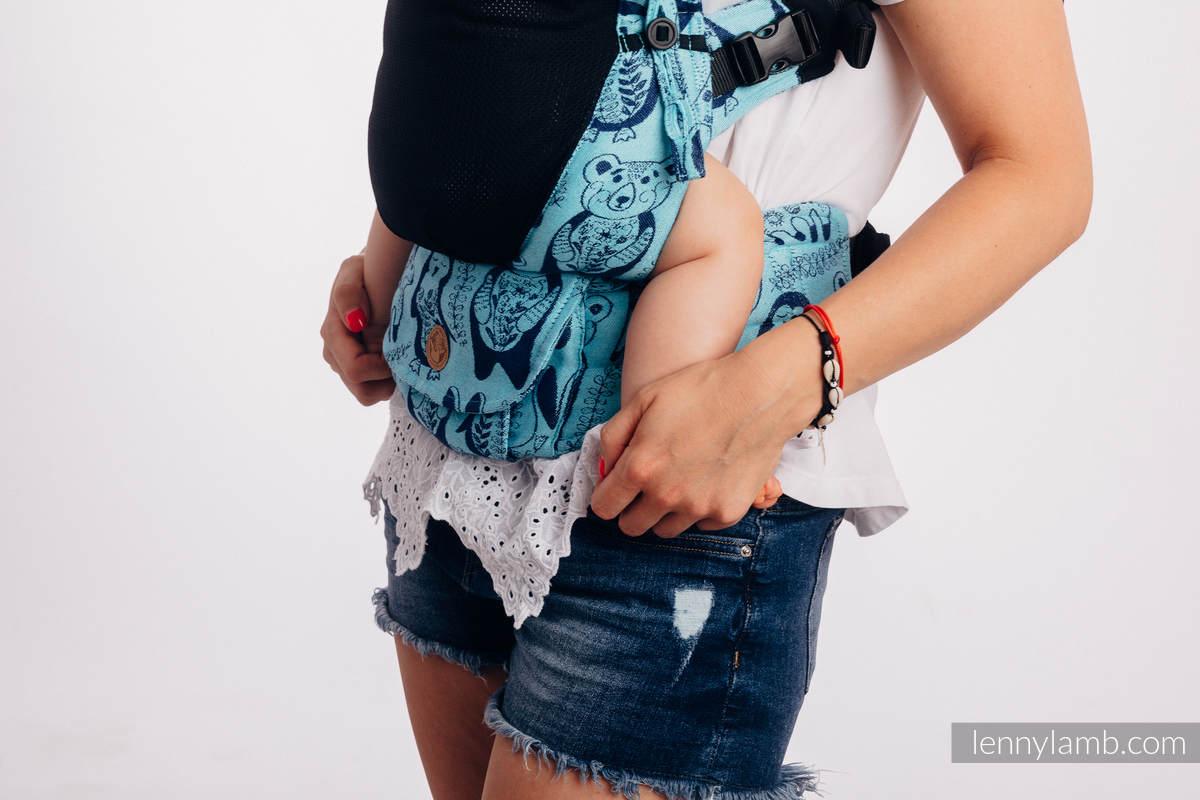Mochila portabebé LennyUpGrade de malla, talla estándar, tejido jaquard (75% algodón, 25% poliéster)  - PLAYGROUND - BLUE  #babywearing