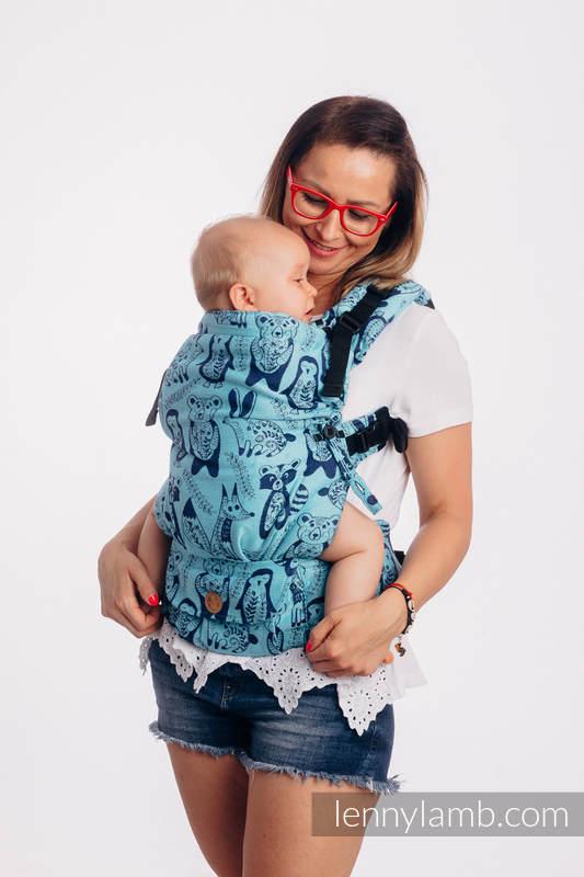 LennyUpGrade Tragehilfe, Größe Standard, Jacquardwebung, 100% Baumwolle - PLAYGROUND - BLUE  #babywearing