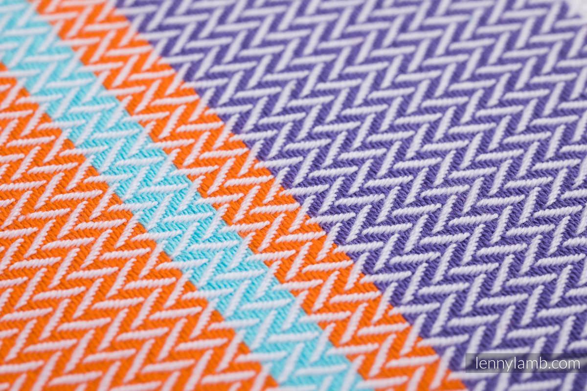 Fular, tejido Herringbone (100% algodón) - LITTLE HERRINGBONE MANDARIN HEAVEN - talla M (grado B) #babywearing