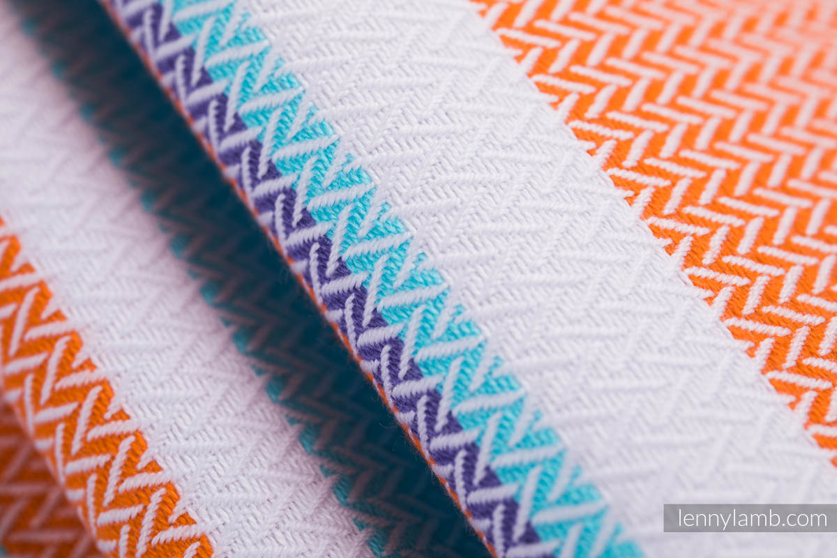 Baby Wrap, Herringbone Weave (100% cotton) - LITTLE HERRINGBONE MANDARIN HEAVEN - size M (grade B) #babywearing