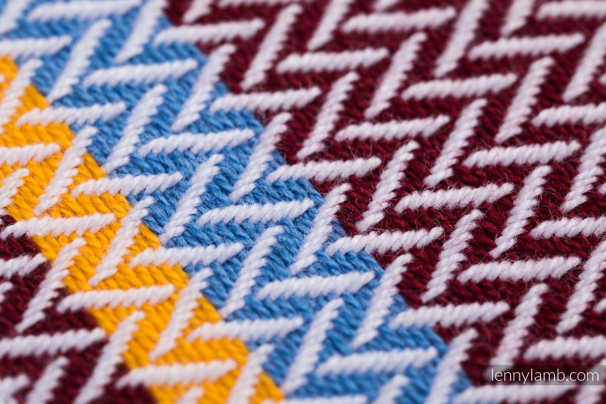 Baby Wrap, Herringbone Weave (100% cotton) - LITTLE HERRINGBONE ORANGE BLOSSOM - size XS #babywearing