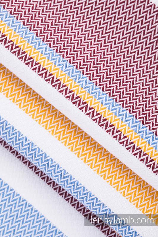 Baby Wrap, Herringbone Weave (100% cotton) - LITTLE HERRINGBONE ORANGE BLOSSOM - size L #babywearing