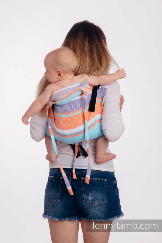 Lenny Buckle Onbuhimo baby carrier, standard size, herringbone weave (100% cotton) - LITTLE HERRINGBONE MANDARIN HEAVEN #babywearing
