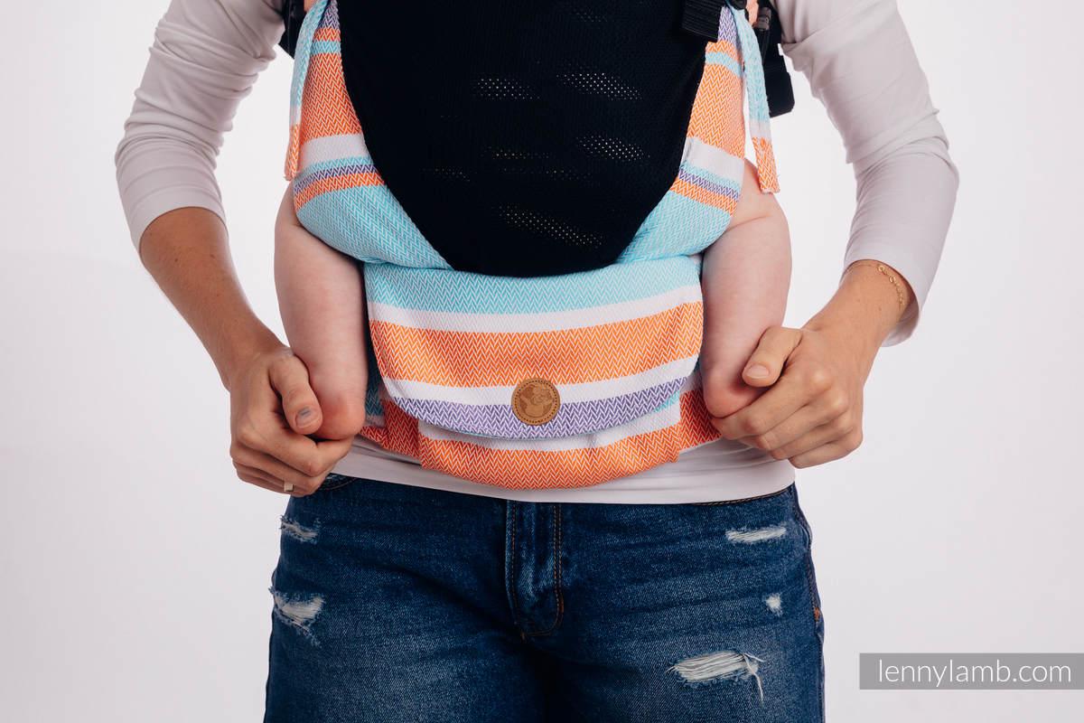 LennyUpGrade Mesh Carrier, Standard Size, herringbone weave (75% cotton, 25% polyester) - LITTLE HERRINGBONE MANDARIN HEAVEN #babywearing