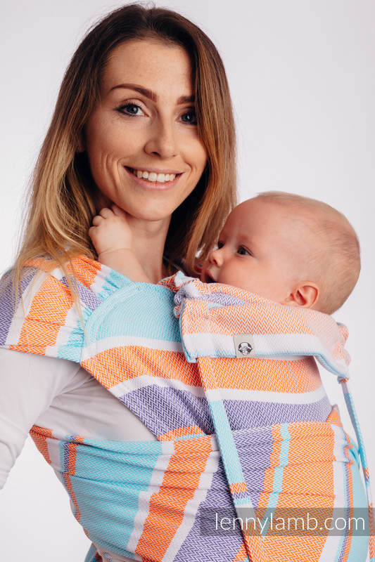 WRAP-TAI carrier Mini with hood/ herringbone twill / 100% cotton / LITTLE HERRINGBONE MANDARIN HEAVEN #babywearing