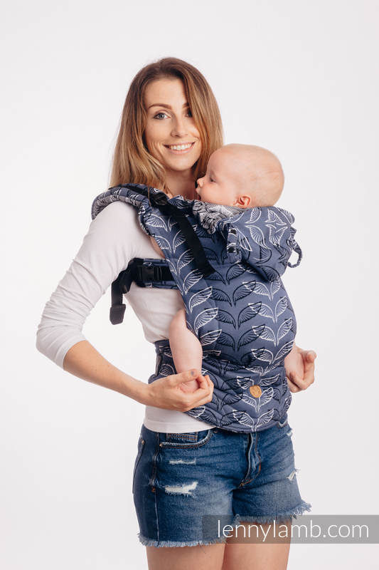 LennyGo Ergonomic Carrier, Toddler Size, jacquard weave 100% cotton - ANGEL WINGS #babywearing