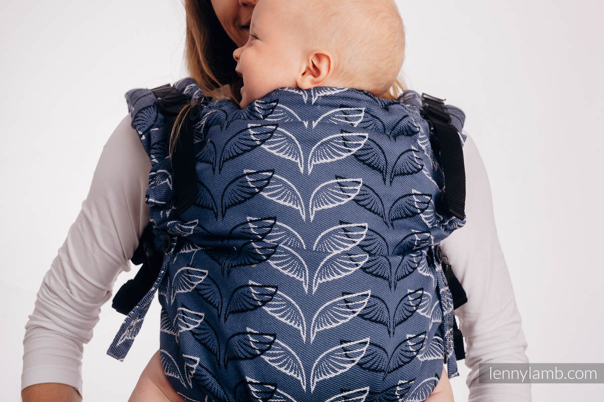 LennyUpGrade Carrier, Standard Size, jacquard weave 100% cotton - ANGEL WINGS #babywearing