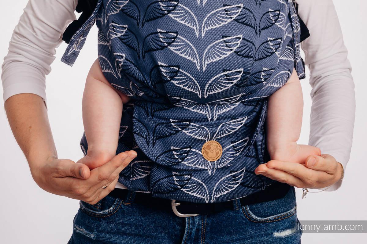 Nosidełko LennyUpGrade  z tkaniny żakardowej 100% bawełna , rozmiar standard - SKRZYDŁA ANIOŁA #babywearing
