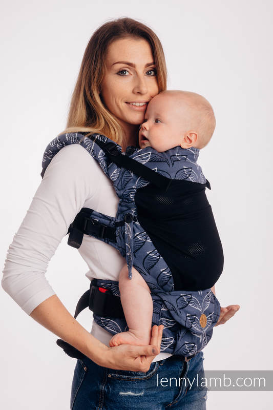 LennyUpGrade Mesh Carrier, Standard Size, jacquard weave (75% cotton, 25% polyester) - ANGEL WINGS #babywearing