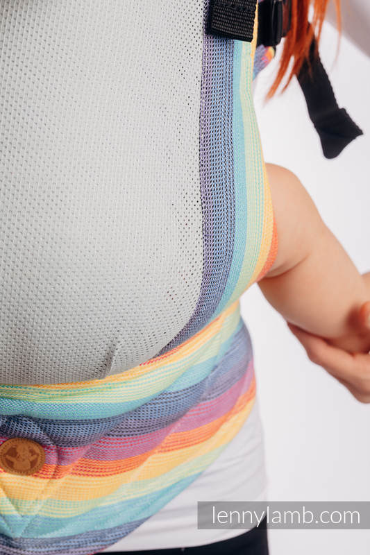 LennyGo Ergonomic Mesh Carrier, Baby Size, broken-twill weave 86% cotton, 14% polyester - LUNA #babywearing