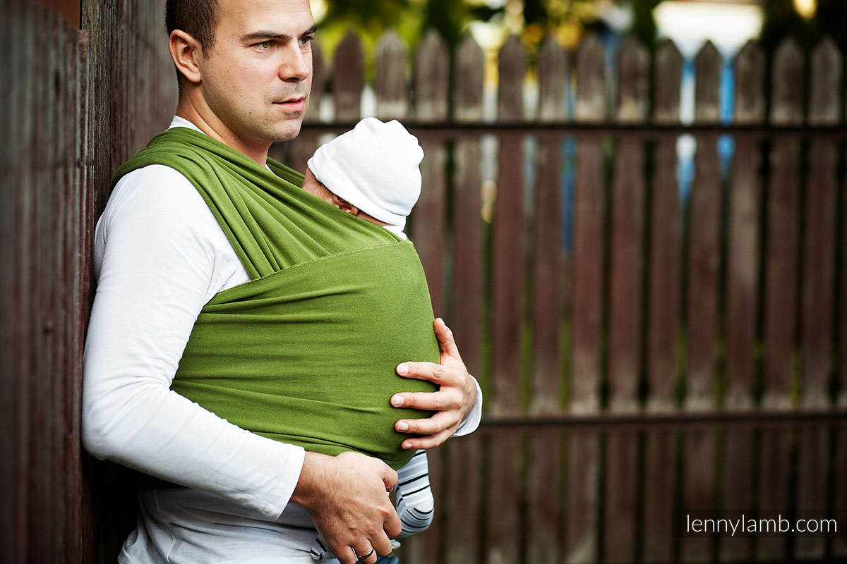 Stretchy/Elastic Baby Sling - FOR PROFESSIONAL USE EDITION - MALACHITE - standard size 5.0 m #babywearing