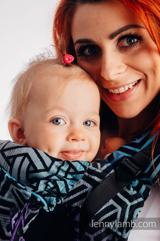 LennyGo Ergonomic Mesh Carrier, Toddler Size, jacquard weave 86% cotton, 14% polyester - TRINITY COSMOS #babywearing