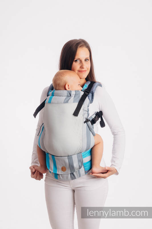 LennyUpGrade Mesh Carrier, Standard Size, broken-twill weave (75% cotton, 25% polyester) - MISTY MORNING #babywearing