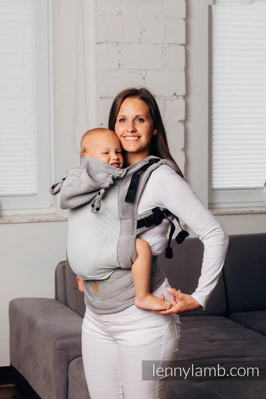 LennyGo Mochila ergonómica de malla Línea Básica - CALCITE - talla toddler, tejido satin, 86% algodón, 14% poliéster  #babywearing