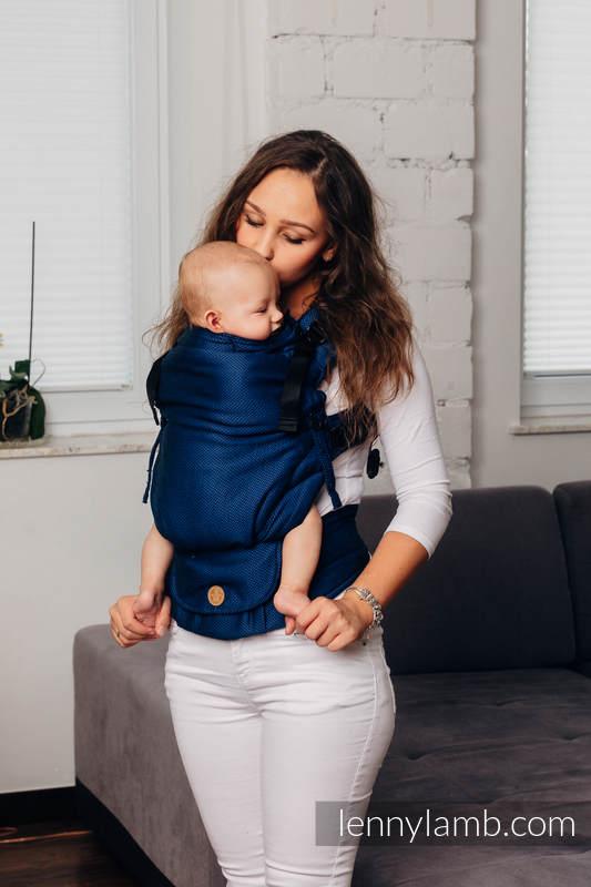 LennyUpGrade Tragehilfe, Größe Standard, Fischgrätmuster, 100% Baumwolle - BASIC LINE COBALT #babywearing