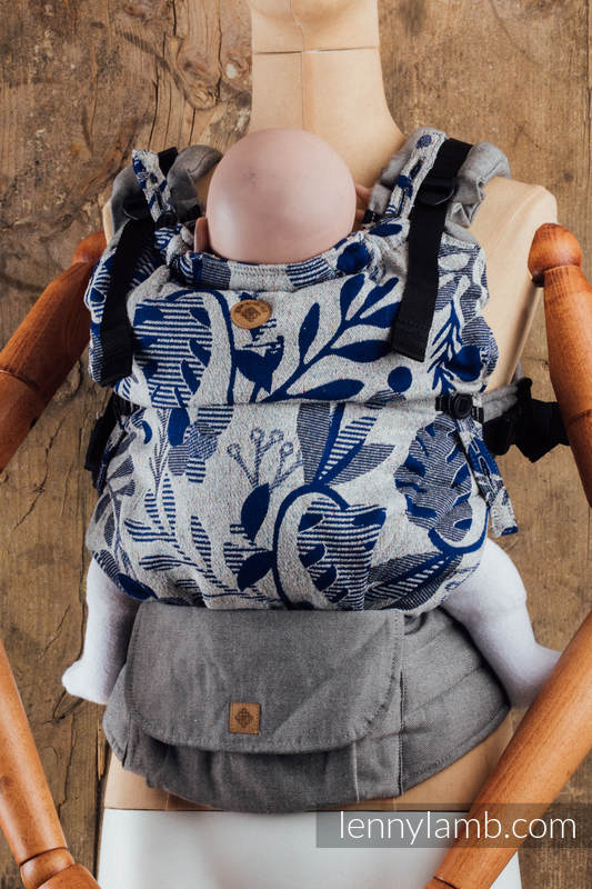 LennyUpGrade Carrier - CHOICE - EXPERIMENT no.19 - Standard Size, jacquard weave, (38% merino wool, 34% noil silk, 28% combed cotton) #babywearing