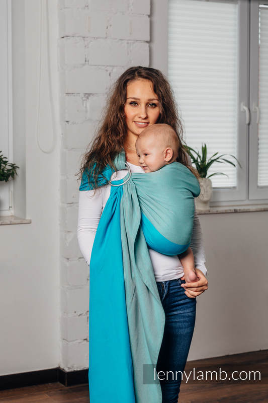 Basic Line Ring Sling - LABRADORITE - 100% Cotton - Broken Twill Weave -  with gathered shoulder - standard 1.8m (grade B) #babywearing