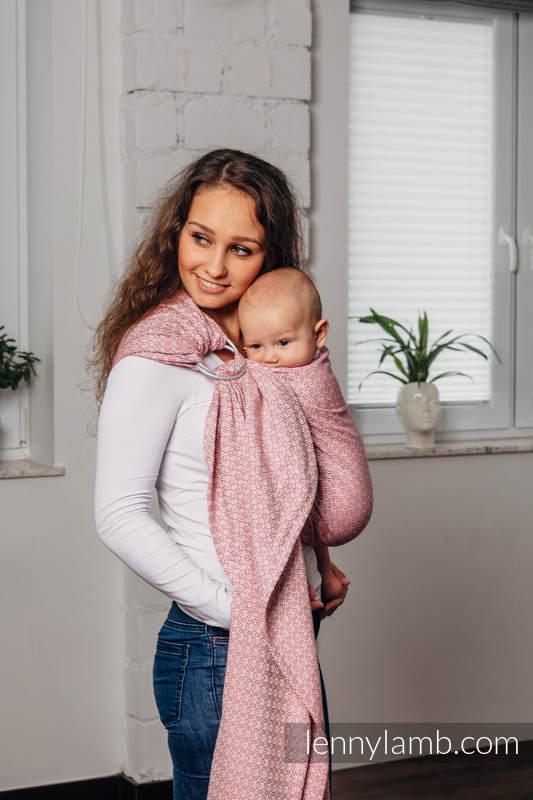 Bandolera de anillas Línea Básica - LITTLELOVE - MORGANITE - 100% algodón, tejido jacquard - con plegado simple - standard 1.8m #babywearing