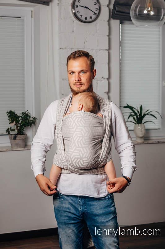 Mein Zweites Tragetuch - ALABASTER, Jacquardwebung (100% Baumwolle) - Größe L (grad B) #babywearing