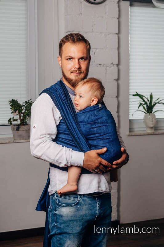 Fular Línea Básica - COBALT, tejido de espiga, 100% algodón, talla XS #babywearing
