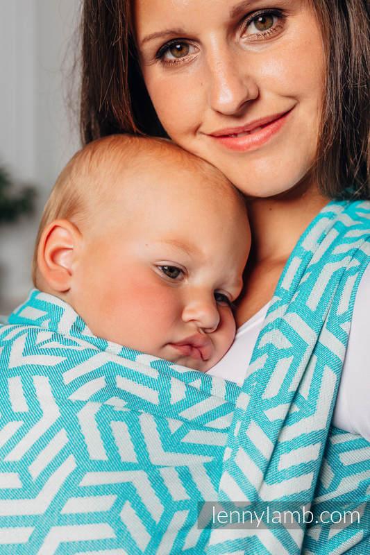 Basic Line Baby Sling - APATITE, Jacquard Weave, 100% cotton, size XS #babywearing